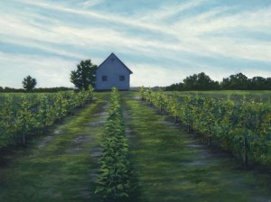 "The Vineyard, 18"" x  24"", oil on wood panel 