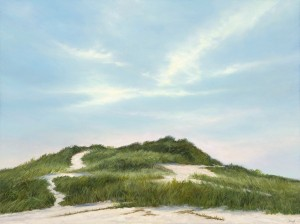 """Dune Trails, 12"""" x 16"""", oil on panel 