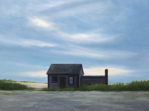 """The Boat House, 12"""" x 16"""", oil on panel 