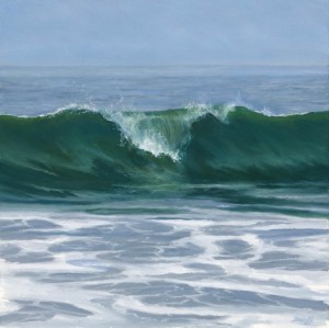 """Green Glass, 8"""" x 8"""", oil on panel   Available   George Billis Gallery"""