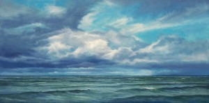 "Northern Michigan Surf, 12"" x 24"", oil on canvas"