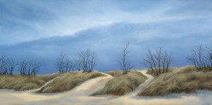 """Dune Passage, 12"""" x 24"""", oil on canvas 
