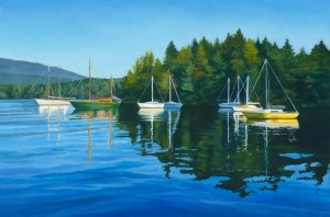 """The Cove, 24"""" x 36"""", oil on canvas 