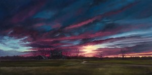 """Gloaming, 18"""" x 36"""", oil on canvas 