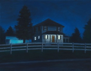 "House on the Hill, 14"" x 18"", oil on canvas 