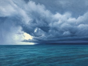 """Storm Over Little Traverse Bay, 36"""" x 48"""", oil on canvas 