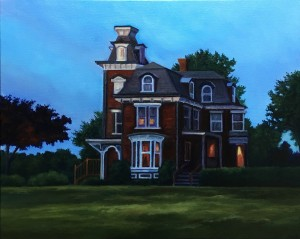 "The Inn, 20"" x 24"", oil on canvas 