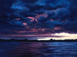 "Nightfall, 36"" x 48"", oil on canvas"