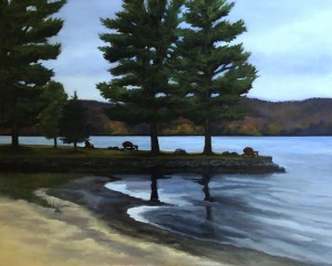 "The Adirondack Trail, 24"" x 30"", oil on canvas"